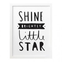 OLD ENGLISH CO. | SHINE BRIGHTLY LITTLE STAR (black/white background) | A3 アートプリント/ポスターの商品画像