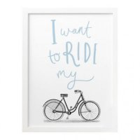 OLD ENGLISH CO. | RIDE MY BIKE PRINT (storm/white background) | A3 アートプリント/ポスター【アウトレット】の商品画像
