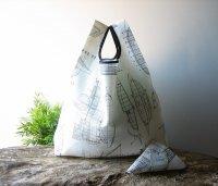 【ネコポス送料無料】ATELIER SETTEMBRE | BOATS DRAWING TOTE BAG (gray) | トートバッグ/ショッピングバッグの商品画像
