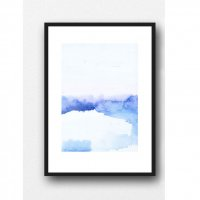 LOUISE ART STUDIO | BLUE LANDSCAPE #1 | A3 ポスター/アートプリント【北欧 アブストラクト 水彩】の商品画像
