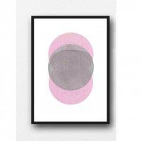 LOUISE ART STUDIO | NEW MOON ART (pink) | A3 ポスター/アートプリント【北欧 アブストラクト 水彩】の商品画像