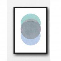 LOUISE ART STUDIO | NEW MOON ART (blue) | A3 ポスター/アートプリント【北欧 アブストラクト 水彩】の商品画像