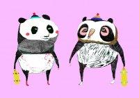 ASHLEY PERCIVAL | PANDA SKATERS | A3 ポスター/アートプリントの商品画像