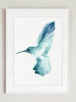 COLOR WATERCOLOR | Hummingbird #2 | A3 アートプリント/ポスター【北欧 雑貨 インテリア リビング かわいい 鳥】の商品画像