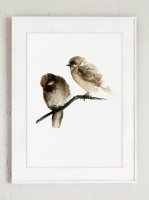 COLOR WATERCOLOR | Birds Nest Art Print #2 | A3 アートプリント/ポスターの商品画像