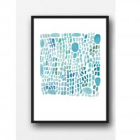 LOUISE ART STUDIO | SEA GRASS TURQUOISE ART | A3 ポスター/アートプリント【北欧 アブストラクト 水彩】の商品画像