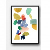 LOUISE ART STUDIO | ABSTRACT COLORFUL WATERCOLOR PRINT | A3 ポスター/アートプリント【北欧 アブストラクト 水彩】の商品画像