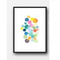 LOUISE ART STUDIO | WATERCOLOR CIRCLES PRINT | A3 ポスター/アートプリント【北欧 アブストラクト 水彩】の商品画像