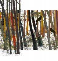 【ネコポス送料無料】LOUISE ART STUDIO | BIRD IN THE WOODS II | ポスター/アートプリント (brown) (8x10