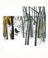 【ネコポス送料無料】LOUISE ART STUDIO | BIRD IN THE WOODS I | ポスター/アートプリント (brown) (8x10
