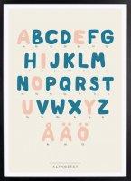 【アウトレット】Kunskapstavlan (クンスカップスターブラン) | Alphabet (アルファベット) | アートプリント/ポスター (30x40cm)
