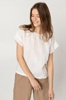 【ネコポス送料無料】two LINEN | Loose fit linen blouse【リネン 麻 ナチュラル ブラウス】