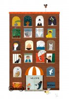 【ネコポス送料無料】BLANCA GOMEZ | MAGIC HOTEL | A4 アートプリント/ポスターの商品画像