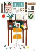 【ネコポス送料無料】BLANCA GOMEZ | MY STUDIO | A4 アートプリント/ポスターの商品画像