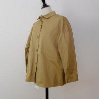 STAMP AND DIARY | Wポケットワークシャツ (beige) | トップスの商品画像