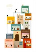BLANCA GOMEZ | LA GRAND'RUE | A2 アートプリント/ポスターの商品画像