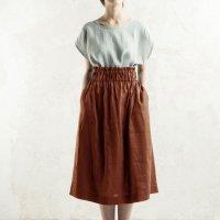 LOVELY HOME IDEA | Long linen skirt (burnt orange)【リネン 麻 ナチュラル スカート】