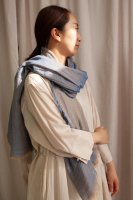 hatsutoki | w-face ストール (ブルー) | Lサイズ【ハツトキ ナチュラル 播州織】の商品画像