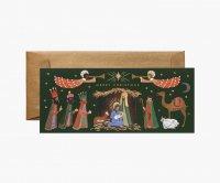 RIFLE PAPER CO. | HOLIDAY NATIVITY クリスマスファミリィア (G1X006) | クリスマス・ランドスケープカード