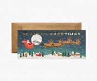 RIFLE PAPER CO. | SANTA'S SLEIGH サンタクロース (G1X002) | クリスマス・ランドスケープカード