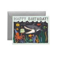 RIFLE PAPER CO. | SHARK BIRTHDAY シャークバースデー (GCB070) | グリーティングカード【誕生日 バースデー】