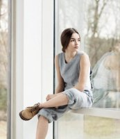 not PERFECT LINEN | LOOSE LINEN JUMPSUIT (washed silver) | UK10の商品画像
