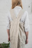 【ネコポス送料無料】not PERFECT LINEN | PINAFORE - SQUARE CROSS LINEN APRON (natural) | エプロンの商品画像