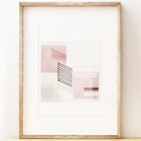 SHAPE COLOUR PATTERN | Abstract wall art print 'Intermission' | A3 アートプリント/ポスター【北欧 モダン インテリア】の商品画像