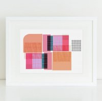 SHAPE COLOUR PATTERN | Abstract wall art print 'Quadretti' | A3 アートプリント/ポスター【北欧 モダン インテリア】の商品画像