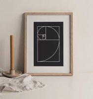 STUDIO FAZZOLETTO | THE GOLDEN RATIO (black) | A3 アートプリント/ポスター【北欧 デンマーク シンプル おしゃれ】の商品画像