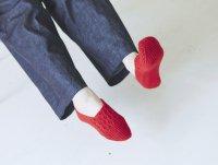 French Bull (フレンチブル) | ハニカムルームカバー (レッド) | ソックス【シンプル 可愛い 靴下】の商品画像