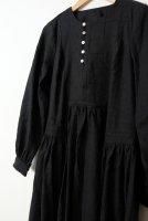 the last flower of the afternoon | 月明の panel dress (black) | ワンピース【オシャレ きれいめ シンプル】の商品画像