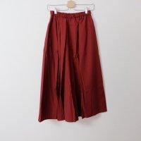 the last flower of the afternoon | 繊翳なる semicircular skirt (dark red) | ボトムス【レディース きれいめ シンプル おしゃれ】の商品画像
