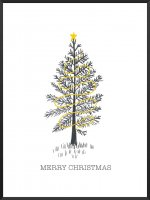 PROJECT NORD | MINIMALIST CHRISTMAS TREE POSTER | アートプリント/ポスター (50x70cm)【北欧 デンマーク インテリア クリスマス もみの木】の商品画像