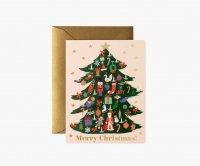 RIFLE PAPER CO. | TRIMMED TREE デコレーションツリー (GCX064) | クリスマス グリーティングカード