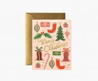 RIFLE PAPER CO. | DECK THE HALLS クリスマスホール (GCX062) | クリスマス グリーティングカード