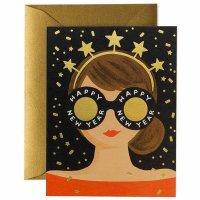 RIFLE PAPER CO. | NEW YEAR GIRL ニューイヤーガール (GCHN10) | クリスマス グリーティングカード