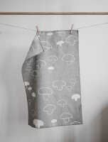 FINE LITTLE DAY | MUSHROOM TEA TOWEL - GREY  (no.41100-1) | キッチンクロス (49x70cm)