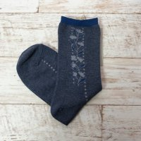 arome de muguet   flowerline (navy)   ソックス【靴下 かわいい フラワー 花柄】の商品画像