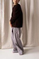 hatsutoki | furmer (ダークブラウン) | クルーネックニット【送料無料 ハツトキ ナチュラル 播州織】