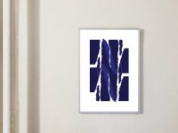 【ネコポス送料無料】LACE & STRIPES | TORN | A4 アートプリント / ポスター【北欧 シンプル インテリア モダン】の商品画像