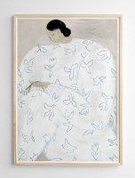 FINE LITTLE DAY | WHITE FLOWER POSTER | アートプリント/ポスター (50x70cm)【北欧 雑貨 インテリア リビング おしゃれ】の商品画像