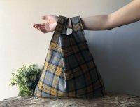 【ネコポス送料無料】ATELIER SETTEMBRE | TOTE BAG (yellow and gray tartan) | トートバッグ/ショッピングバッグの商品画像