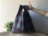 【ネコポス送料無料】ATELIER SETTEMBRE | TOTE BAG (red bordeaux tartan) | トートバッグ/ショッピングバッグの商品画像