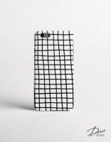【ネコポス送料無料】DESSI DESIGNS | CROSS STRIPES / GRID (white) | iPhone 12ケースの商品画像