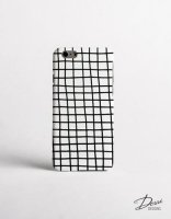 【ネコポス送料無料】DESSI DESIGNS | CROSS STRIPES / GRID (white) | iPhone 12 miniケースの商品画像