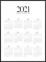 PROJECT NORD | 2021 YEARLY CALENDAR (white)  | A2 カレンダー/ポスター【北欧 シンプル インテリア】の商品画像