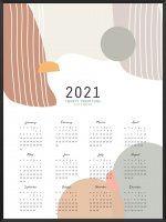 PROJECT NORD | 2021 YEARLY CALENDAR COLORFUL  | A2 カレンダー/ポスター【北欧 シンプル インテリア】の商品画像
