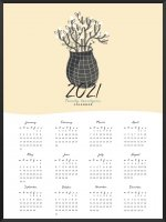 PROJECT NORD | 2021 YEARLY CALENDAR VASE  | A2 カレンダー/ポスター【北欧 シンプル インテリア】の商品画像