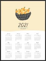 PROJECT NORD | 2020 YEARLY CALENDAR LEMON | A2 カレンダー/ポスター【北欧 シンプル インテリア】